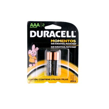 Pilha Duracell Palito AAA com 2 Un