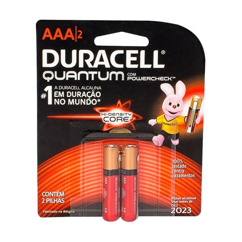 Pilha Duracell Quantum AAA Alcalina com 2 Unidades