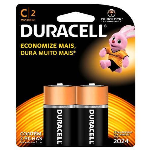 Pilha Media Alcalina Mn1400b2 C/2 Un Duracell