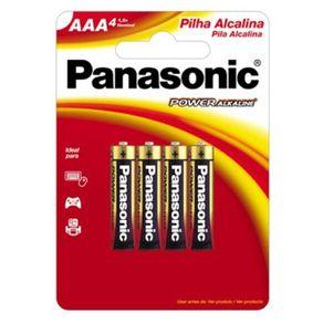 Pilha Palito Alcalina AAA 4 Unidades LR03XAB/4B Panasonic