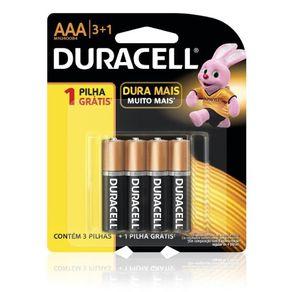 Pilha Palito Alcalina AAA C/4 Pack Duracell
