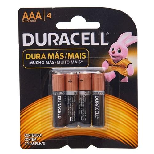 Pilha Palito Alcalina AAA com 4 Unidades Duracell 5104