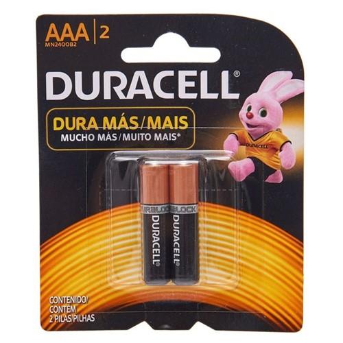 Pilha Palito Alcalina AAA com 2 Unidades Duracell 5112