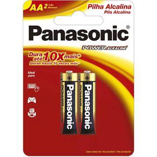 Pilha Panasonic Alcalina AA com 2 Unidades Item