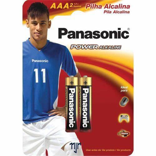 Pilha Panasonic Alcalina Aaa 2 Un 10410