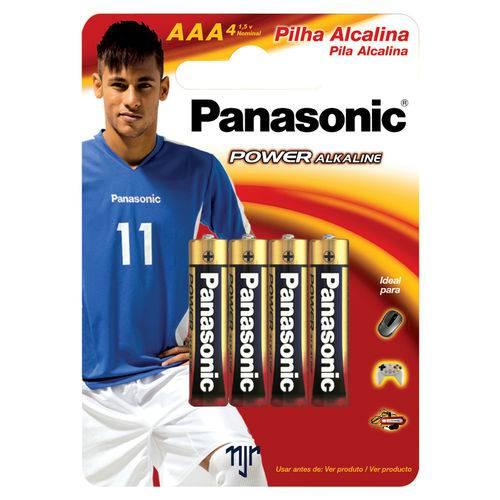 Pilha Panasonic Alcalina Palito Aaa com 4
