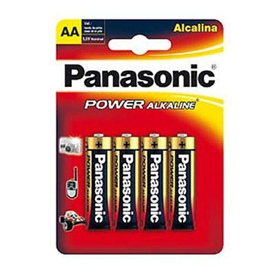 Pilha Panasonic Alcalina Pequena Aa com 4 Pilhas