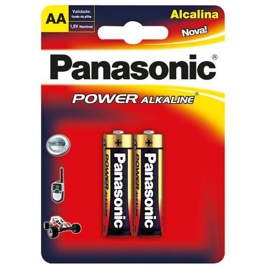 Pilha Panasonic Alcalina Pequena Aa com 2 Pilhas