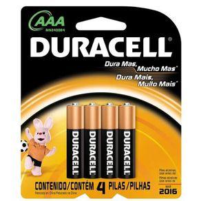 Pilha Peq. Alcalina AA Leve 4 Pague 3 Duracell