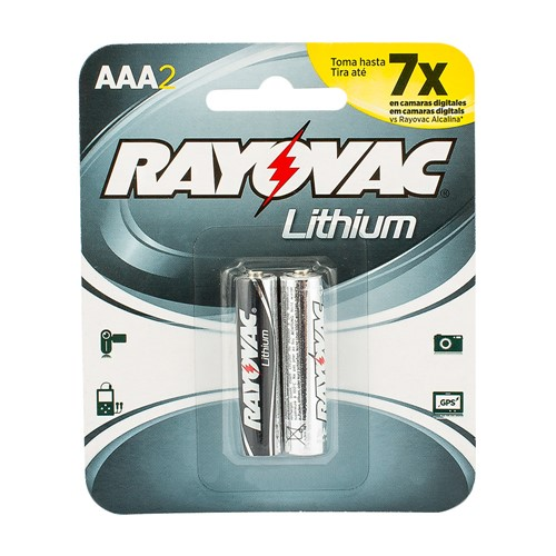 Pilha Rayovac AAA Lithium 1,5V com 2 Unidades