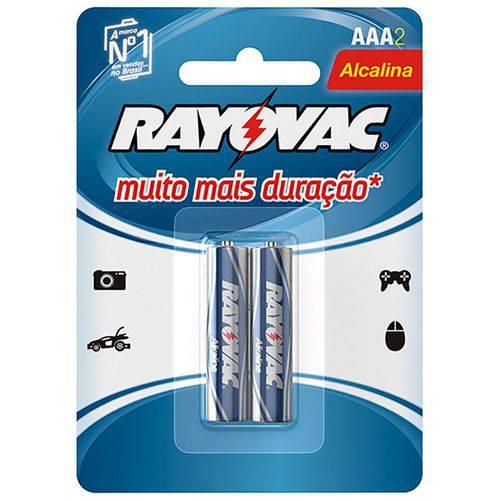 Pilha Rayovac Alcalina 20912 Aaa Palito 1,5v com 02