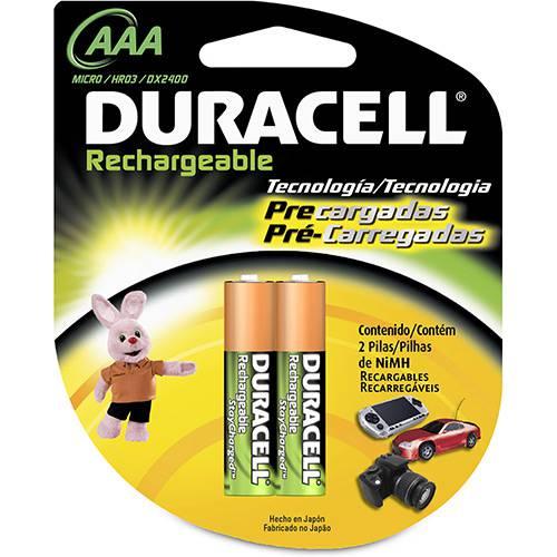 Pilha Recarregável AAA2 800MAH - Duracell