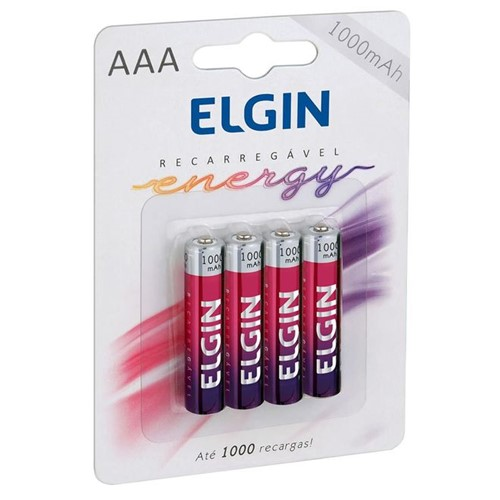 Pilha Recarregável AAA 82171 Elgin