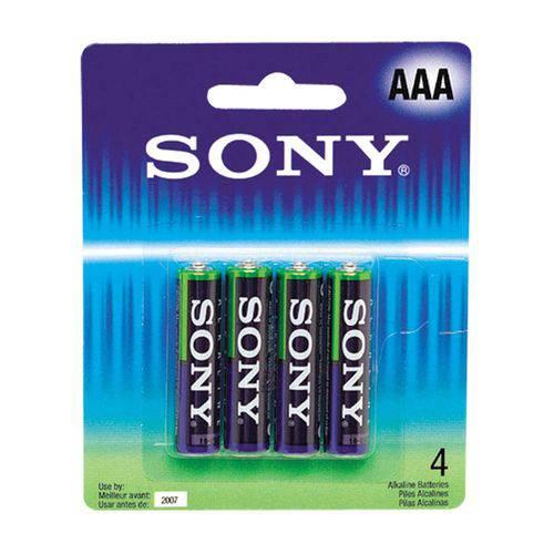 Pilha Sony Alcalina Aaa com 4 Unidades