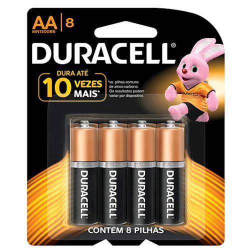 Pilhas Duracell Aa com 8 Unidades