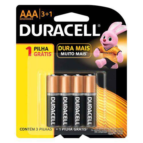Pilhas Duracell Aaa 4 Unidades