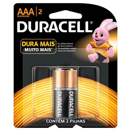 Pilhas Duracell Palito Aaa com 2 Unidades