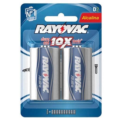 Pilhas Rayovac Grande Lr20 Alcalina D2 1.5v 2 Unidades