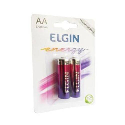 Pilhas Recarregável AA (pequena) Energy 2700 Mah Elgin 2 Unid.