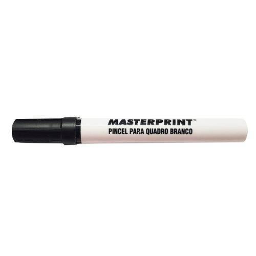 Pincel Canetão para Quadro Branco Ponta Macia 5mm Apaga Fácil Mp617 Preto