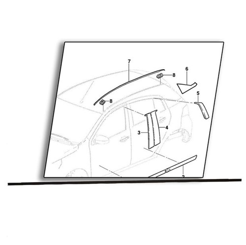 Pingadeira Trilho Teto Lado Direito - 94750514 Agile