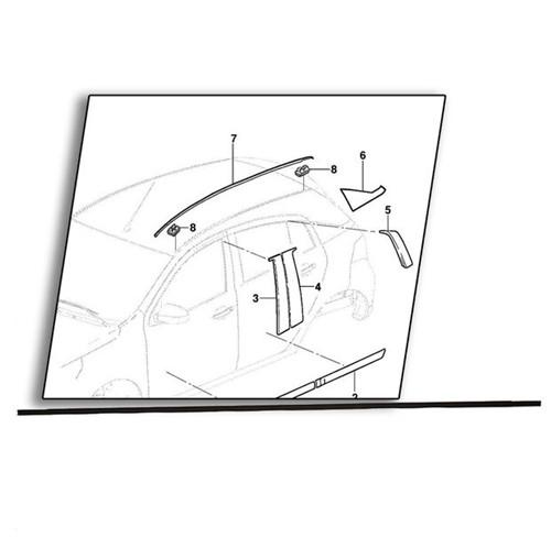 Pingadeira Trilho Teto Lado Esquerdo - 94750513 Agile