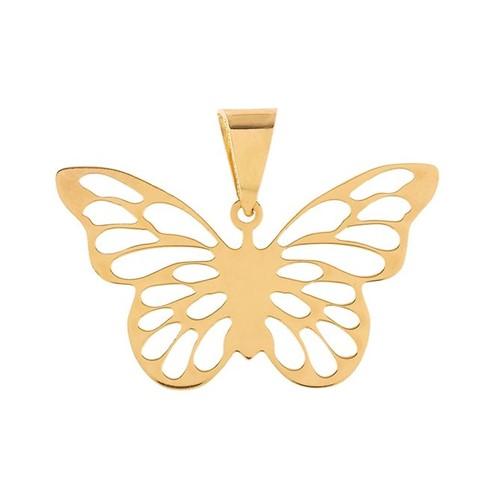 Pingente Borboleta Vazado Ouro 18k 750