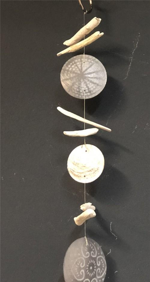 Pingente Conchas Cinza 1,25 Cm - Occa Moderna