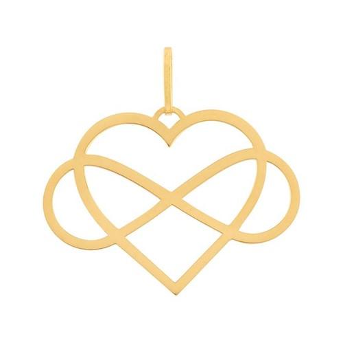 Pingente Coração Infinito Ouro 10k 416