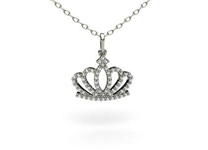Pingente Coroa de Diamantes Ouro Amarelo