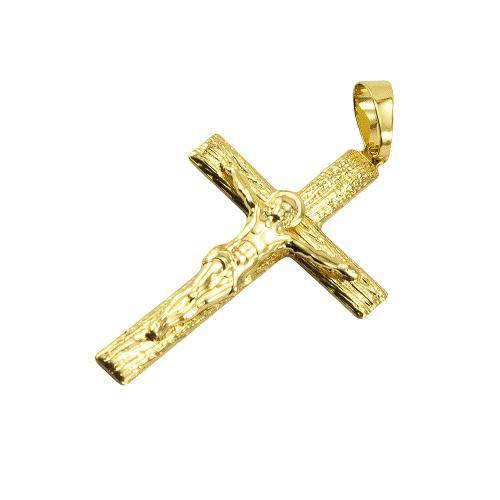 Pingente Cruz Folheado a Ouro 18k
