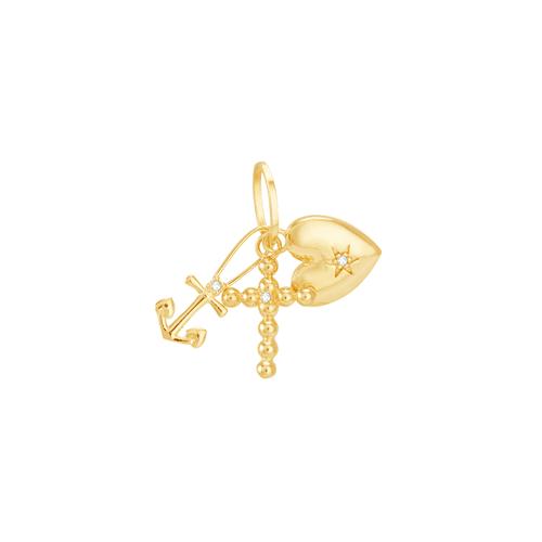 Pingente em Ouro 18K Amuletos - AU6194 - Pingente em Ouro 18K Amuletos - AU6194