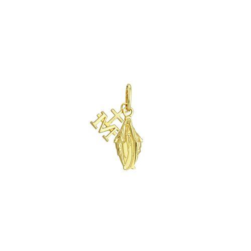 Pingente em Ouro 18K Ave Maria - AU1771 - Pingente Ouro 18K Ave Maria