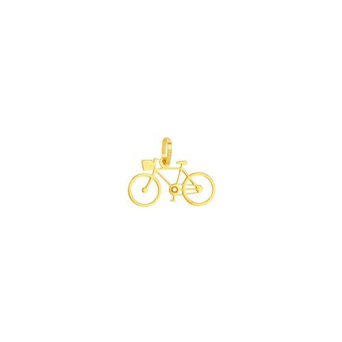 Pingente em Ouro 18K Bicicleta com Zircônias - AU5692