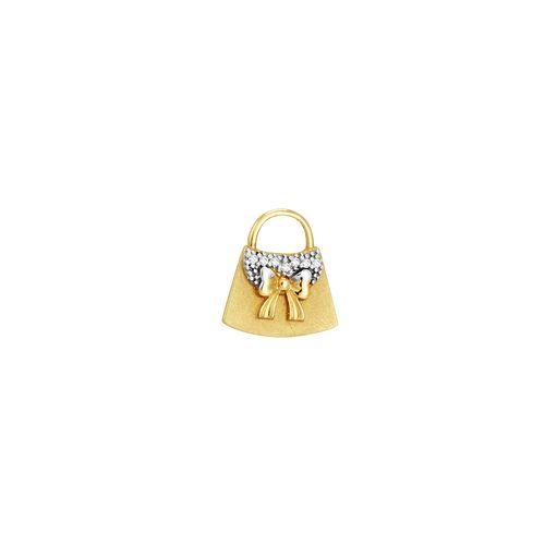 Pingente em Ouro 18K Bolsa com Diamantes - AU2035