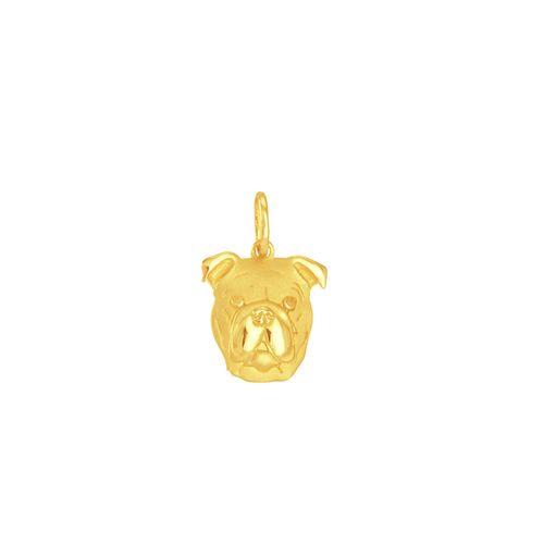 Pingente em Ouro 18K Cachorro Pug - AU5496