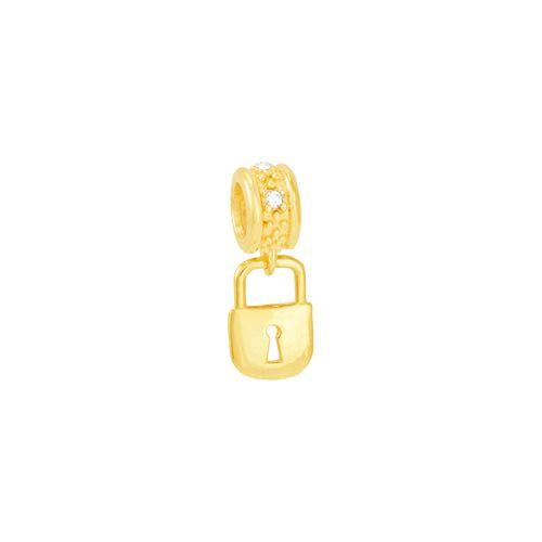 Pingente em Ouro 18k Cadeado com Diamante Linha Hair - AU5014