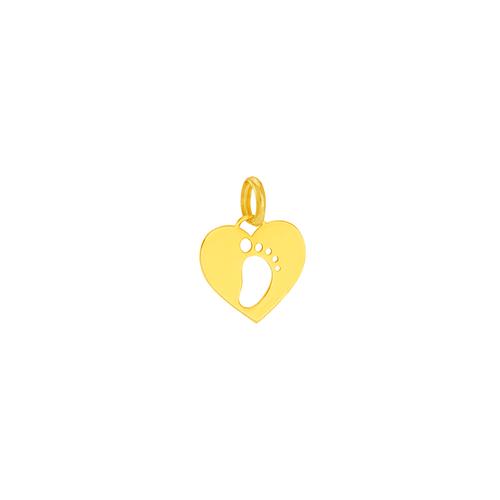 Pingente em Ouro 18K Coração Pezinho - AU5922
