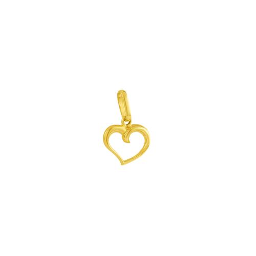 Pingente em Ouro 18K Coração Vazado - AU4233
