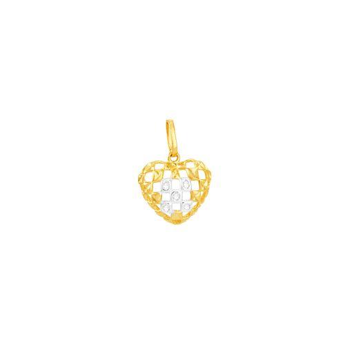 Pingente em Ouro 18K Coração Vazado - AU5120