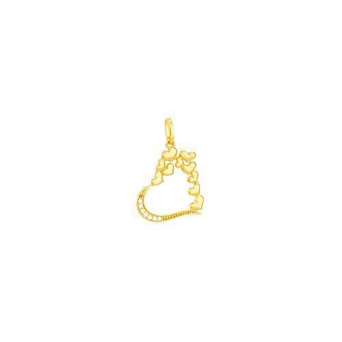 Pingente em Ouro 18K Coração Vazado - AU5121