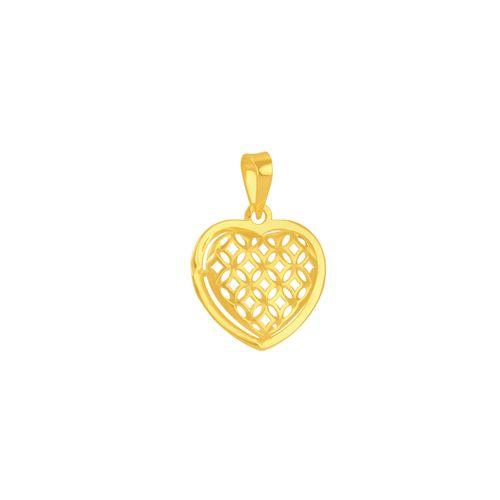 Pingente em Ouro 18K Coração Vazado - AU5383