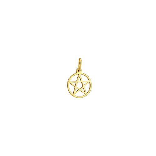 Pingente em Ouro 18K Estrela de 5 Pontas - AU2128
