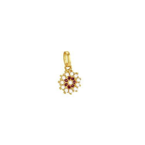 Pingente em Ouro 18k Estrelado com Zircônias - AU3620