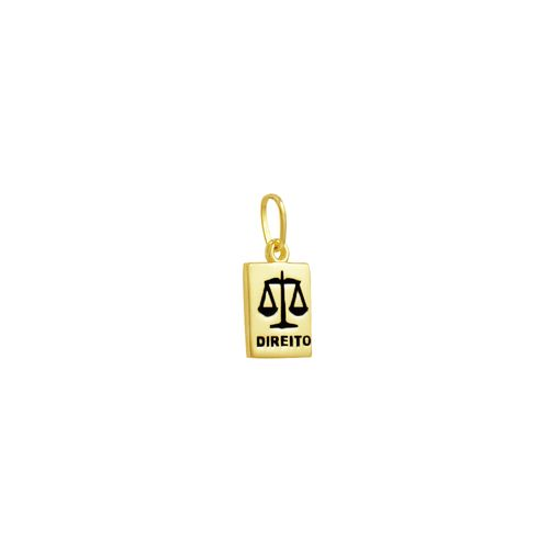 Pingente em Ouro 18K Formatura Placa Direito - AU3498
