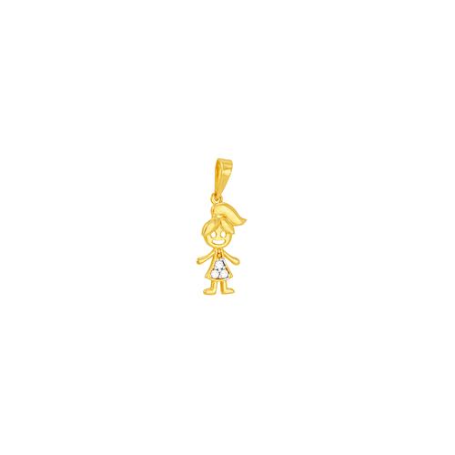 Pingente em Ouro 18K Menina - AU6010