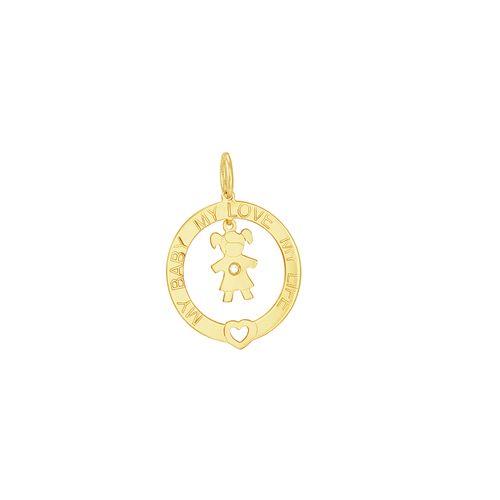 Pingente em Ouro 18K Menina - AU2960