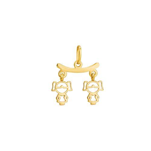 Pingente em Ouro 18K Meninas - AU2196