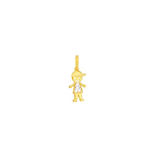 Pingente em Ouro 18K Menino - AU6009