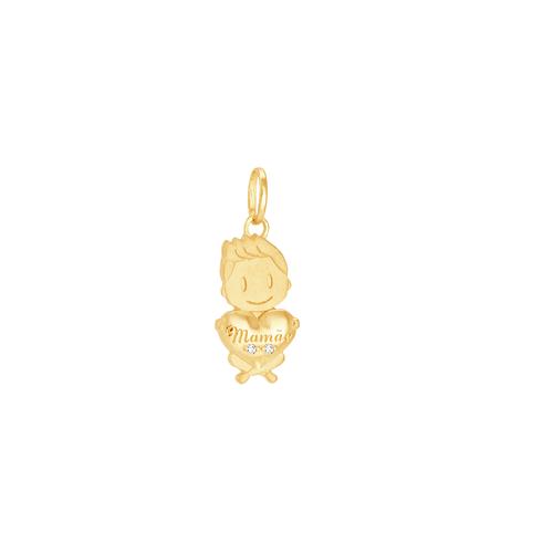 Pingente em Ouro 18K Menino - AU6188 - Pingente em Ouro 18K Menino - AU6188